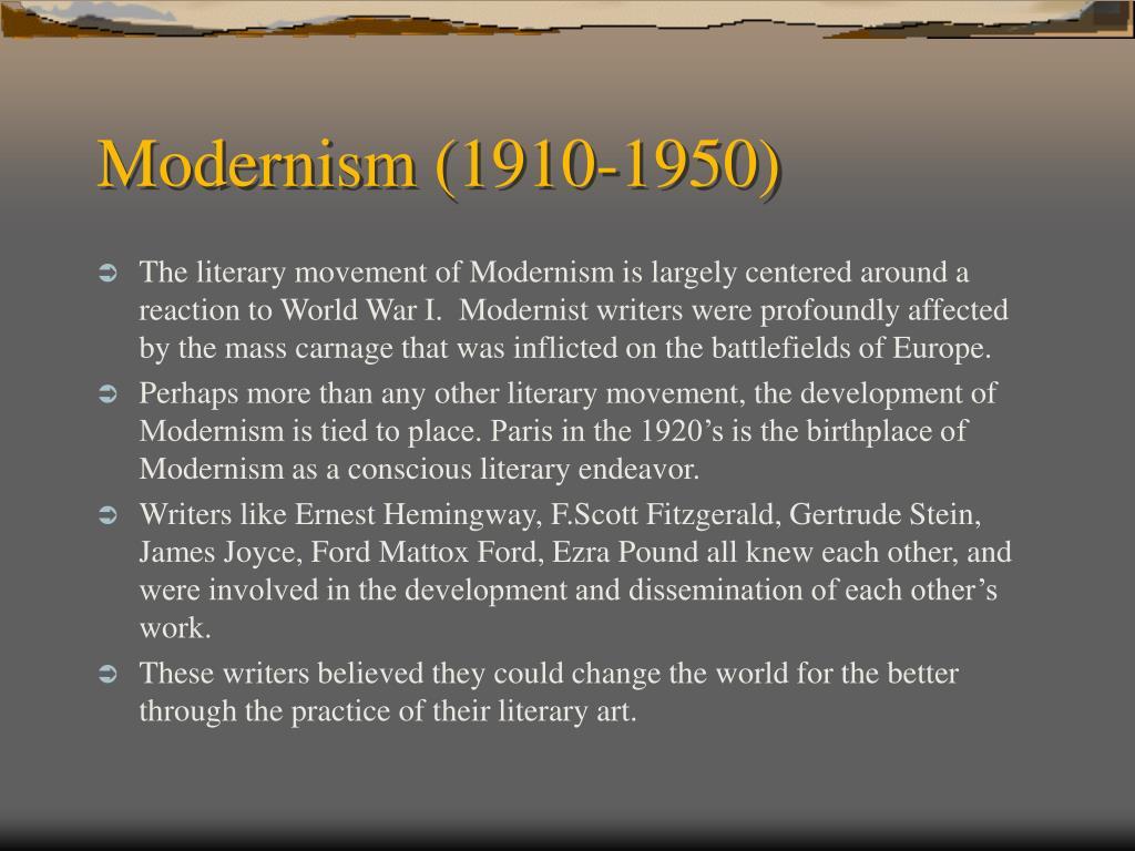 Modernism (1910-1950)