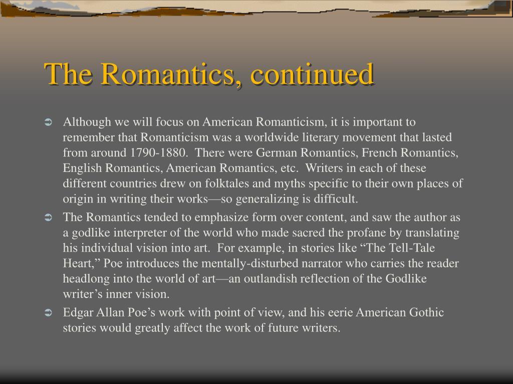 The Romantics, continued