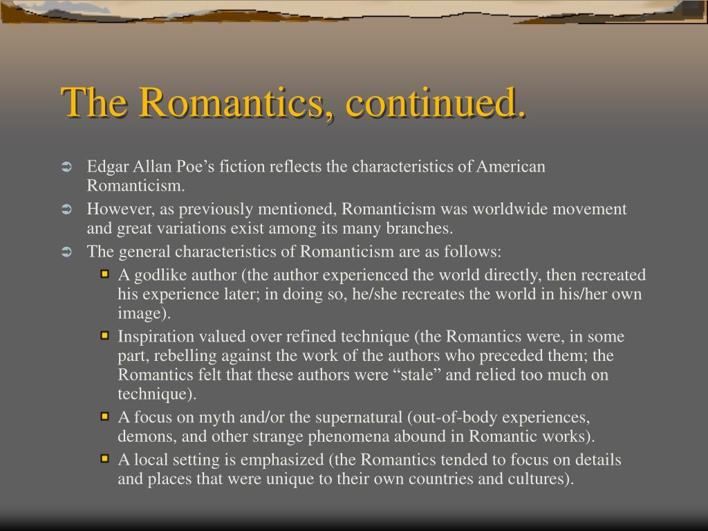 The Romantics, continued.
