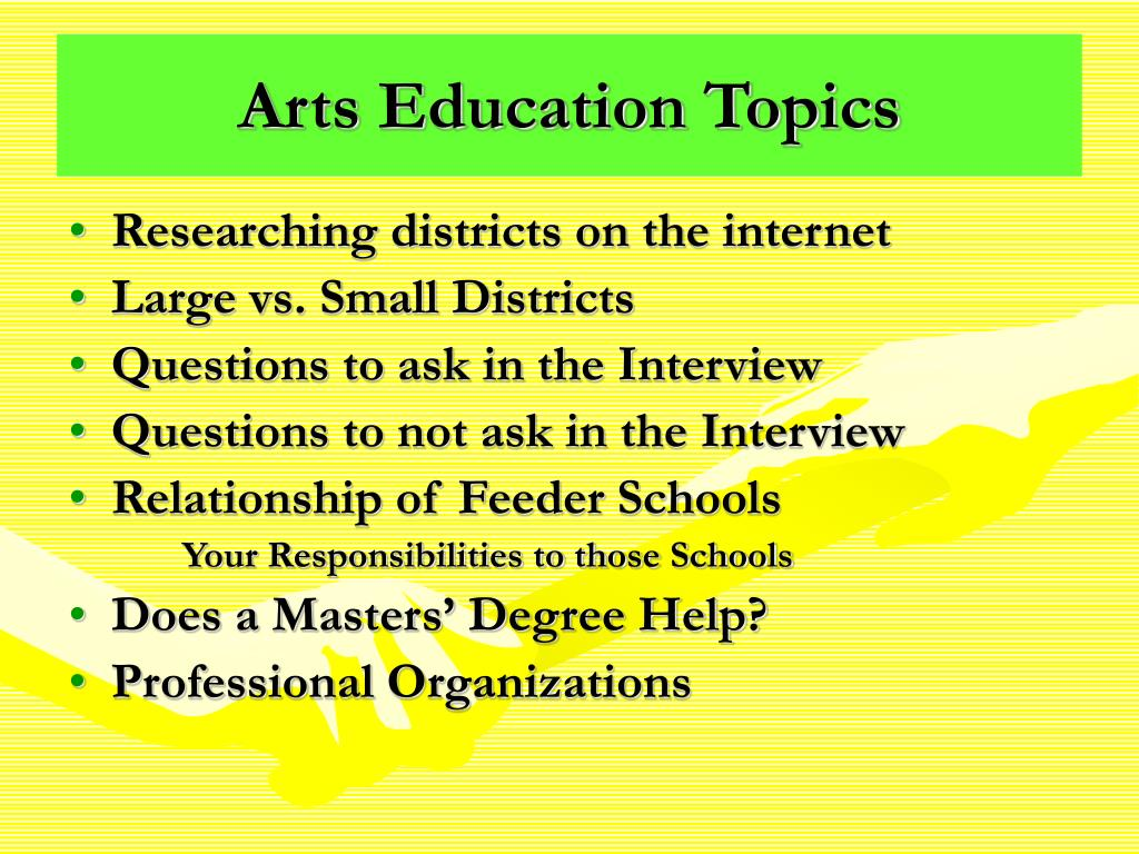 Arts Education Topics