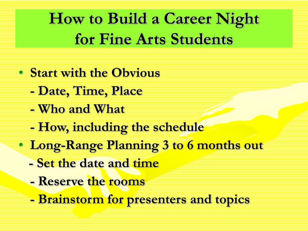 How to Build a Career Night