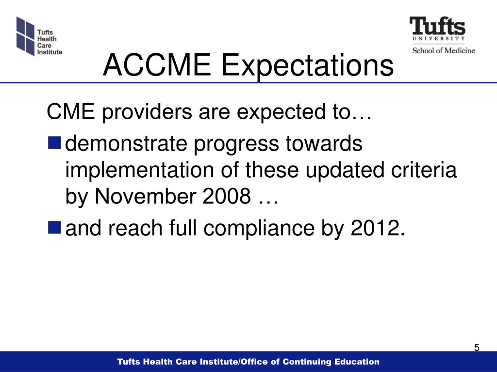ACCME Expectations