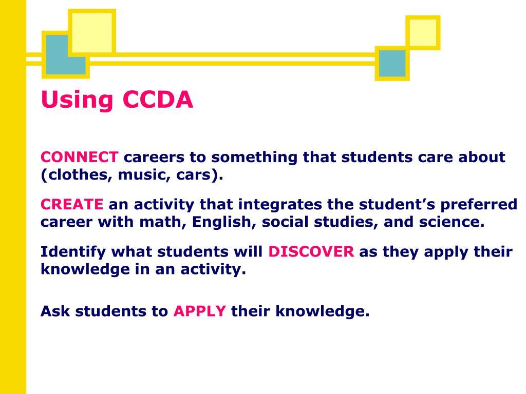 Using CCDA