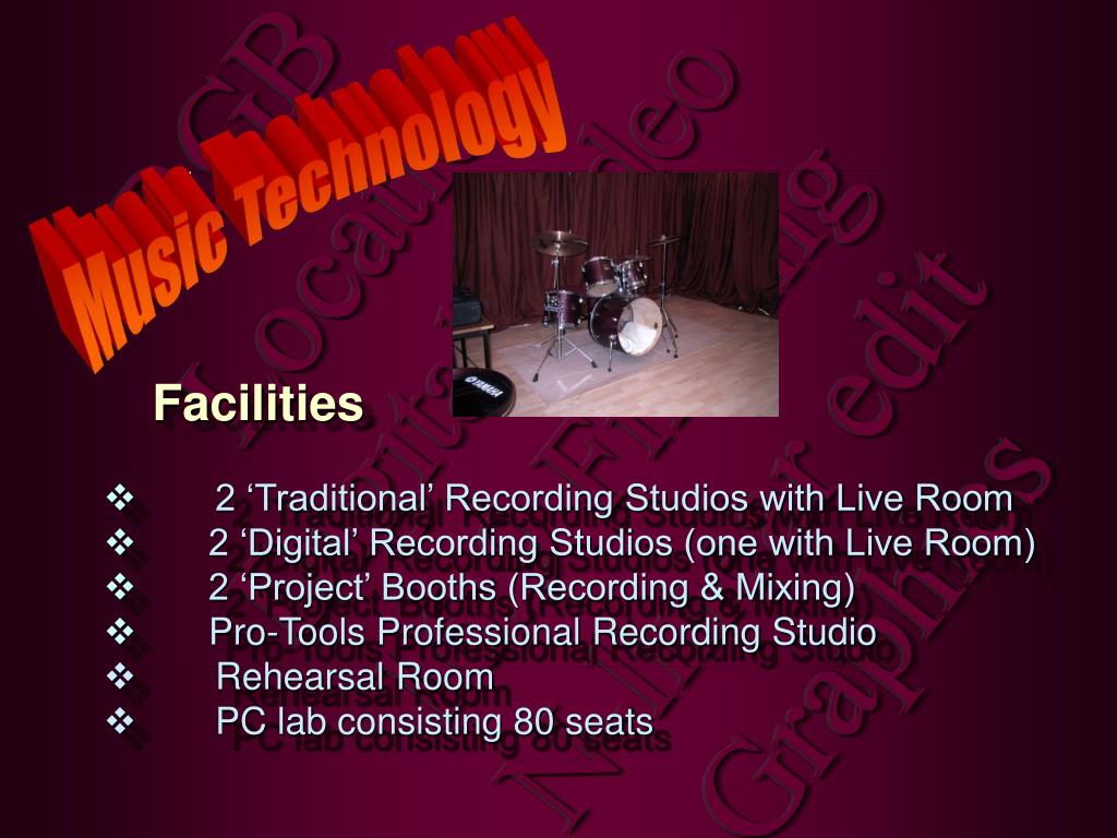 2 'Traditional' Recording Studios with Live Room