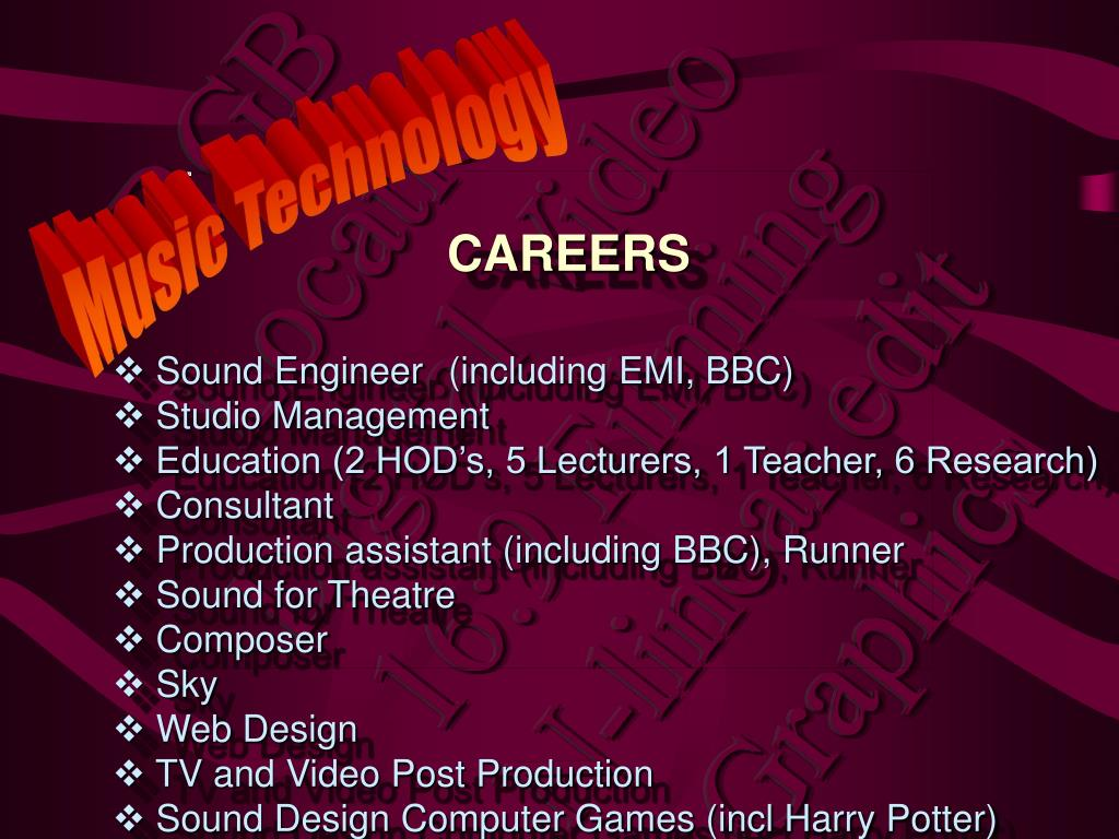Sound Engineer	(including EMI, BBC)