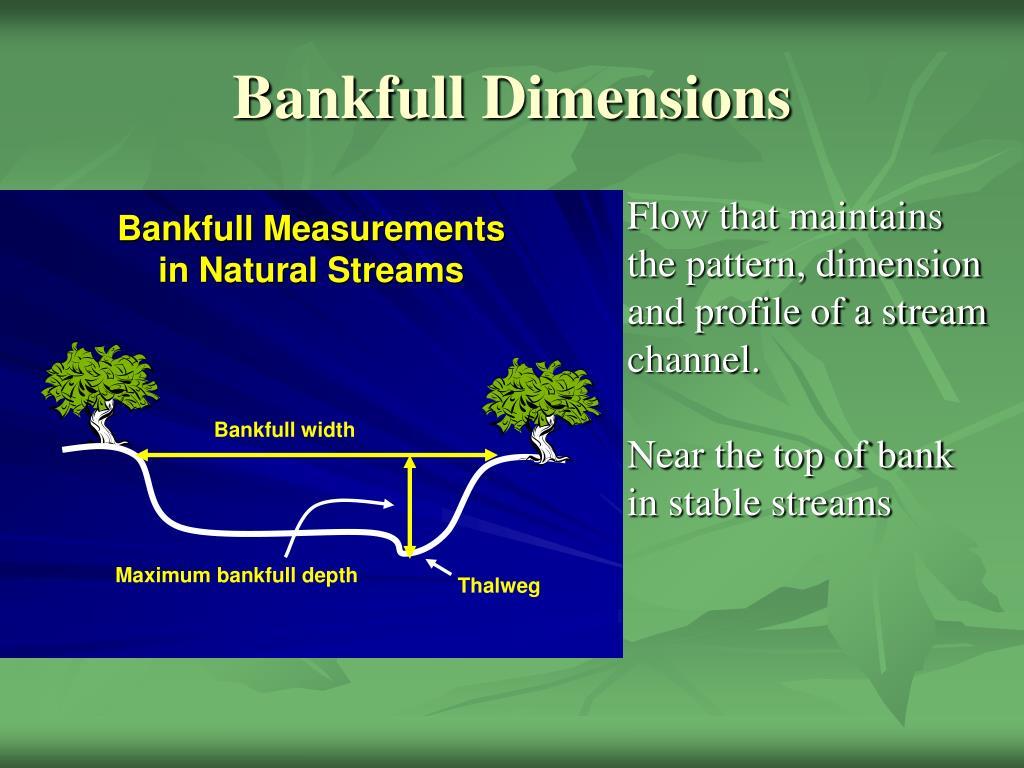 Bankfull Dimensions