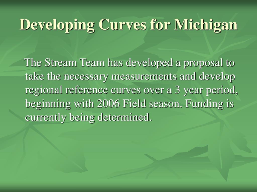 Developing Curves for Michigan