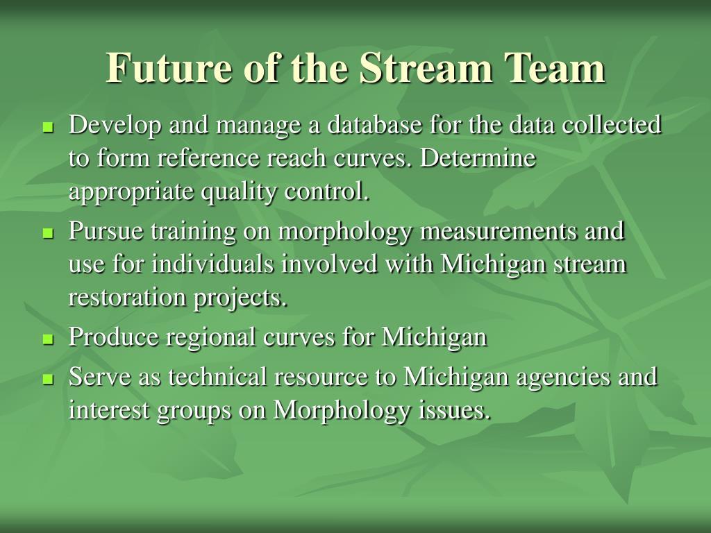 Future of the Stream Team