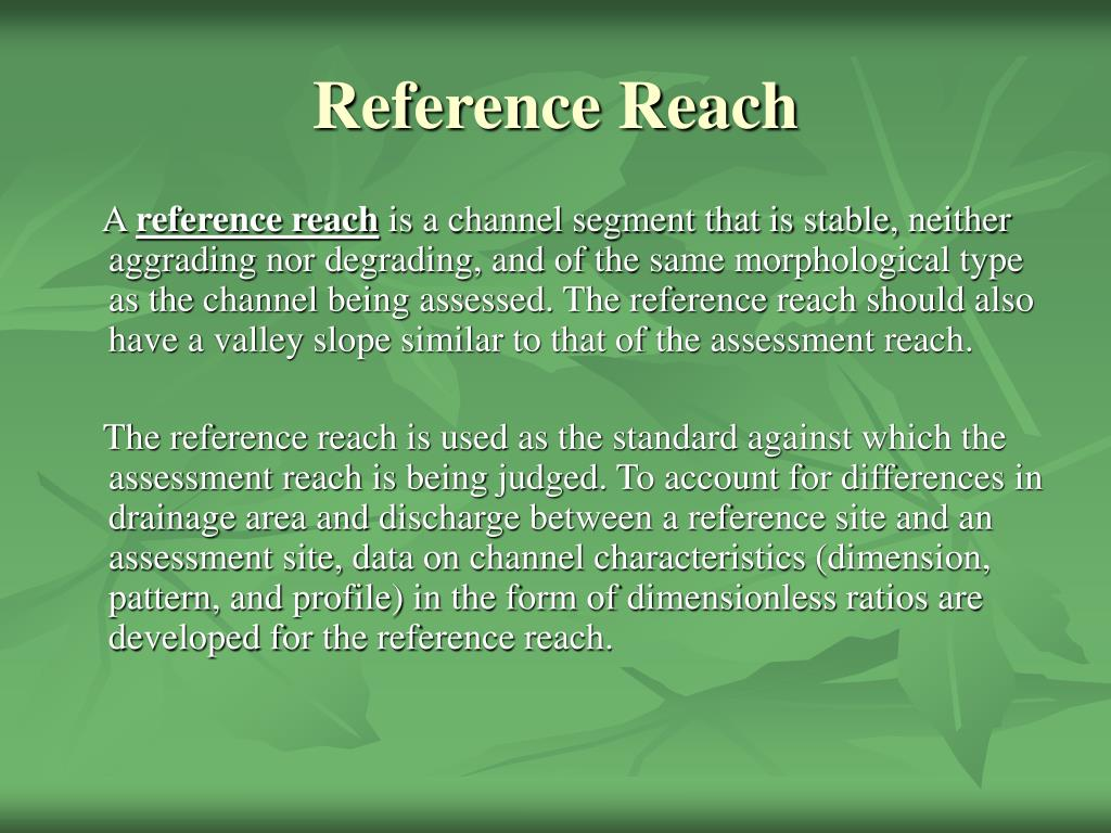 Reference Reach