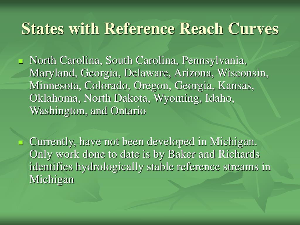 States with Reference Reach Curves