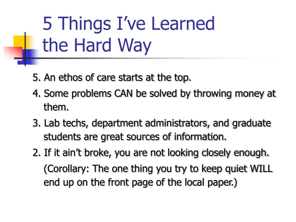 5 Things I've Learned
