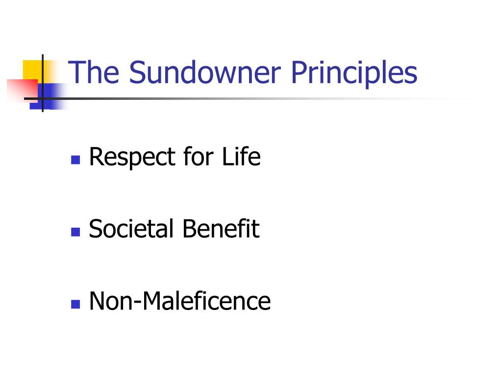 The Sundowner Principles