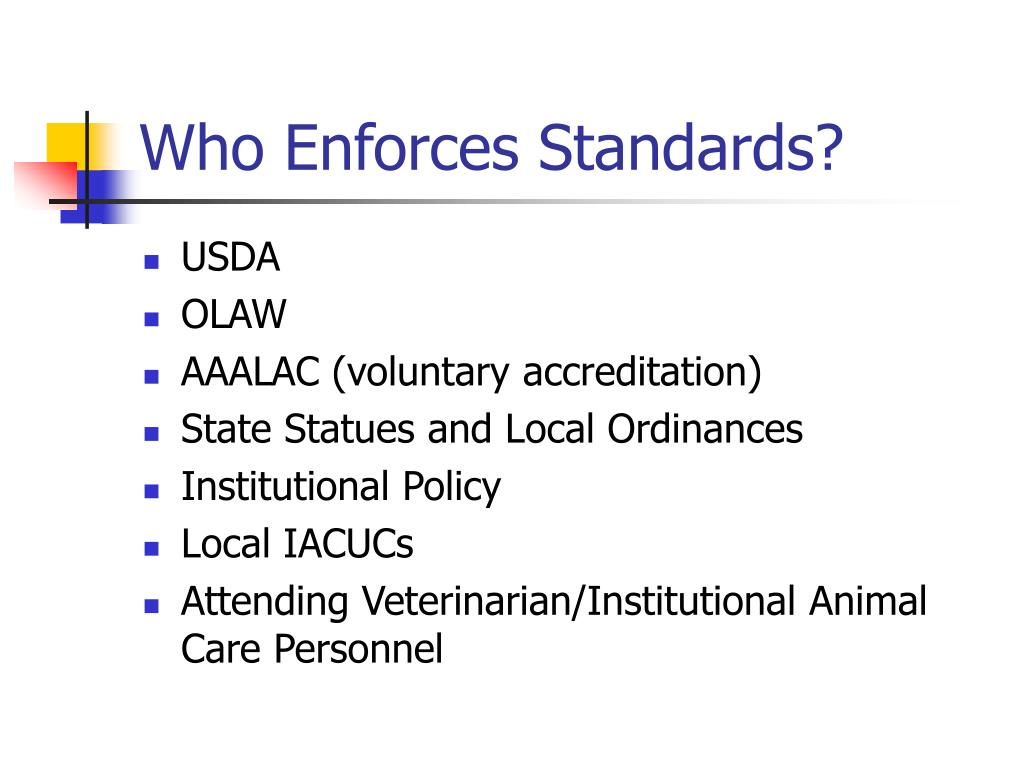 Who Enforces Standards?