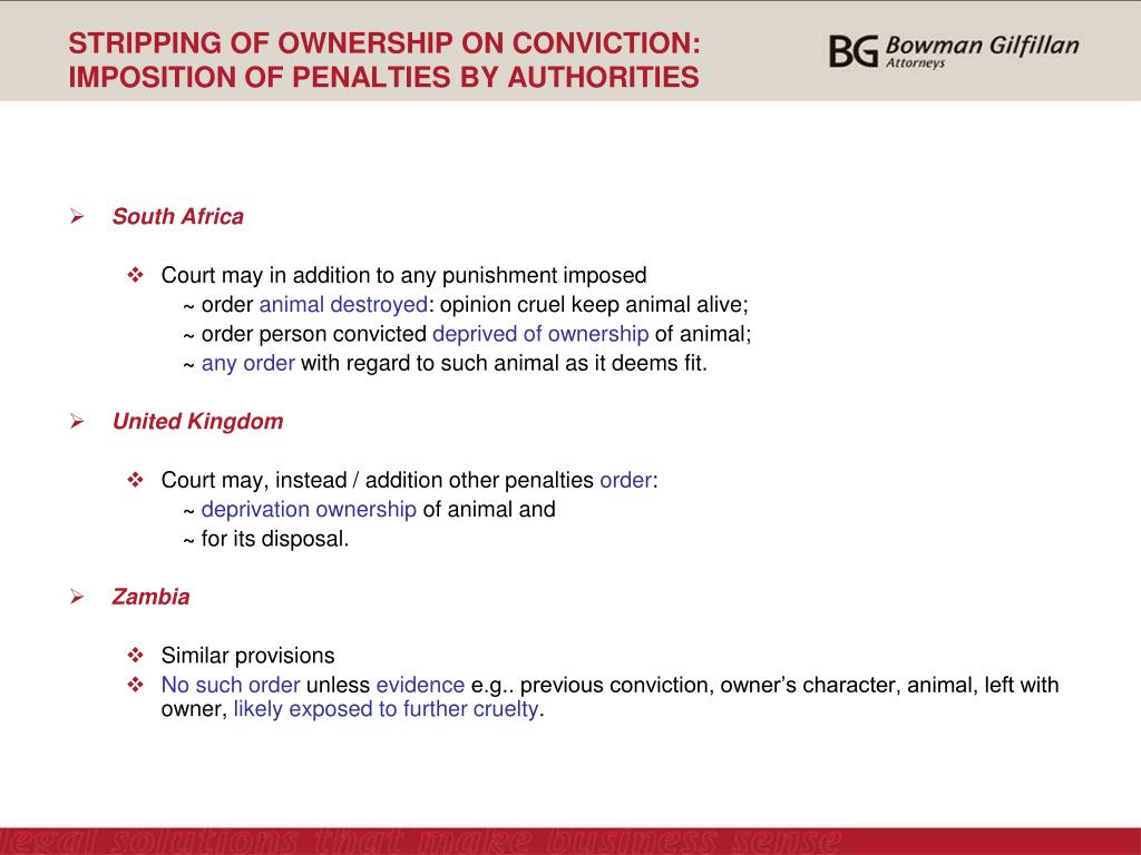 STRIPPING OF OWNERSHIP ON CONVICTION: