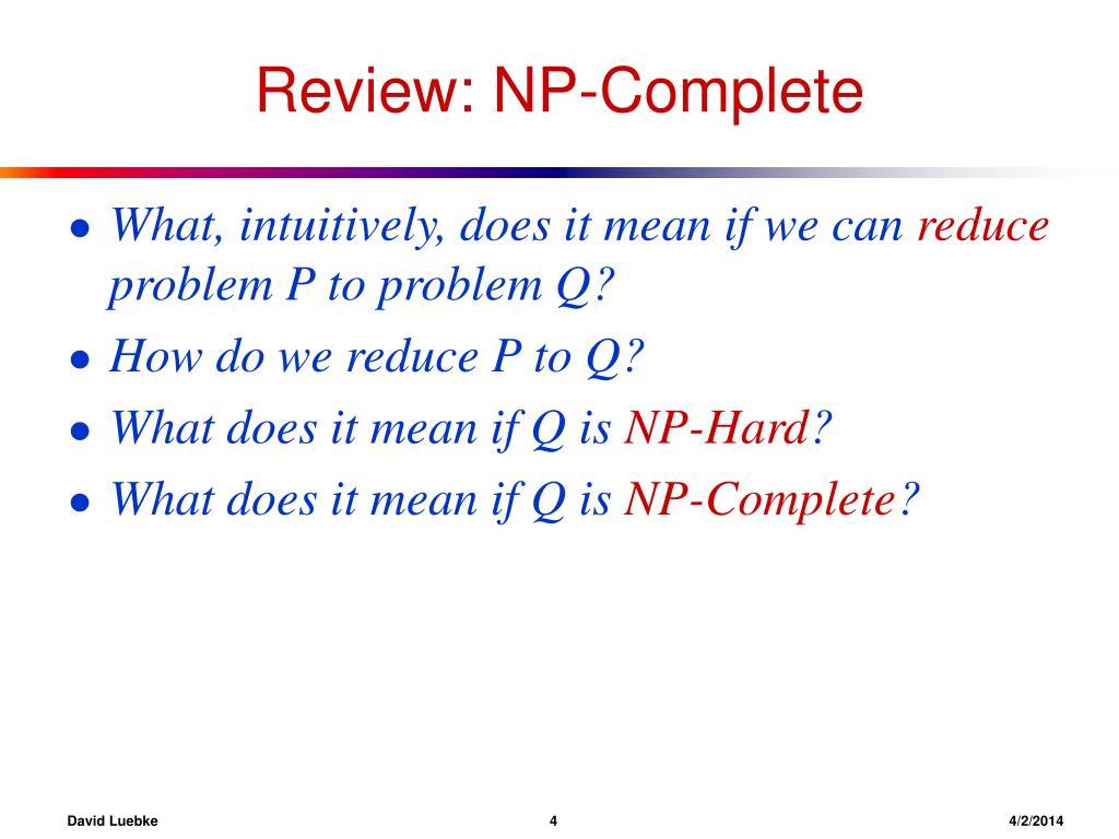 Review: NP-Complete