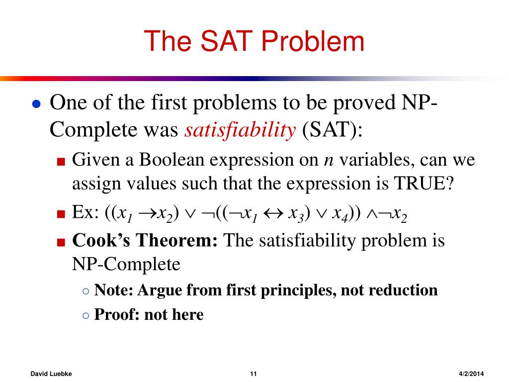The SAT Problem
