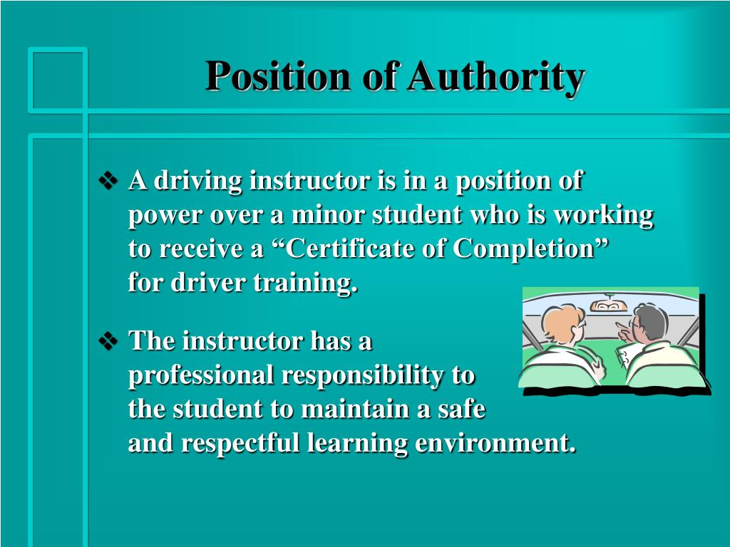 Position of Authority