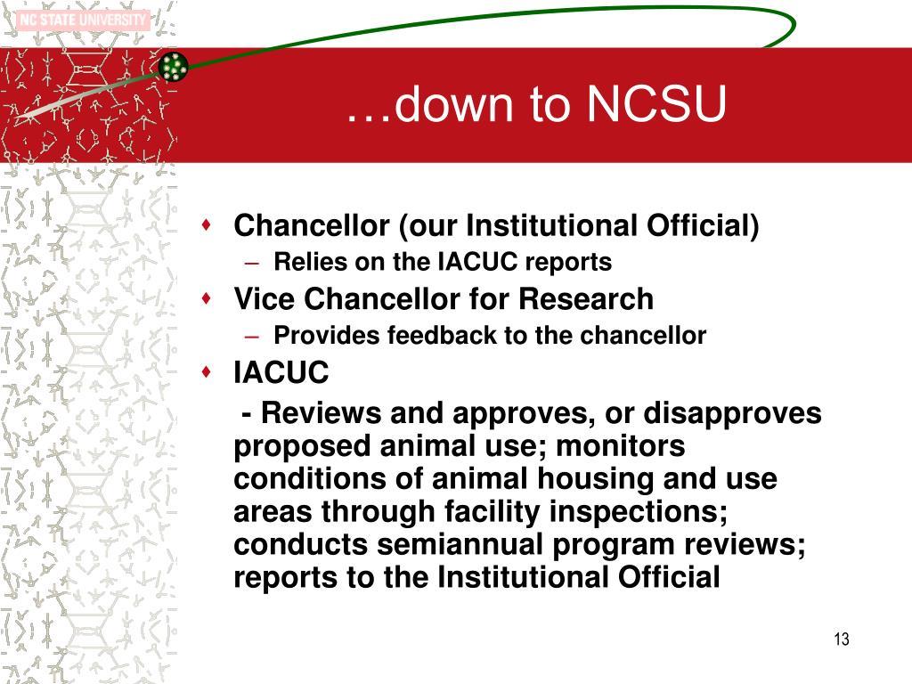 …down to NCSU