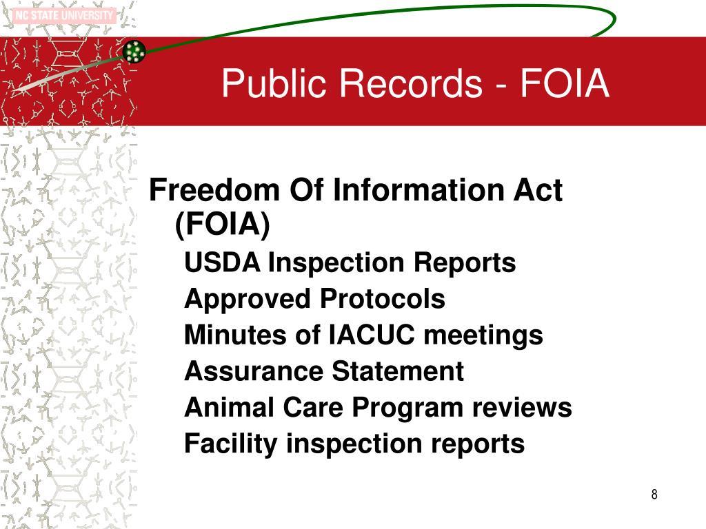Public Records - FOIA