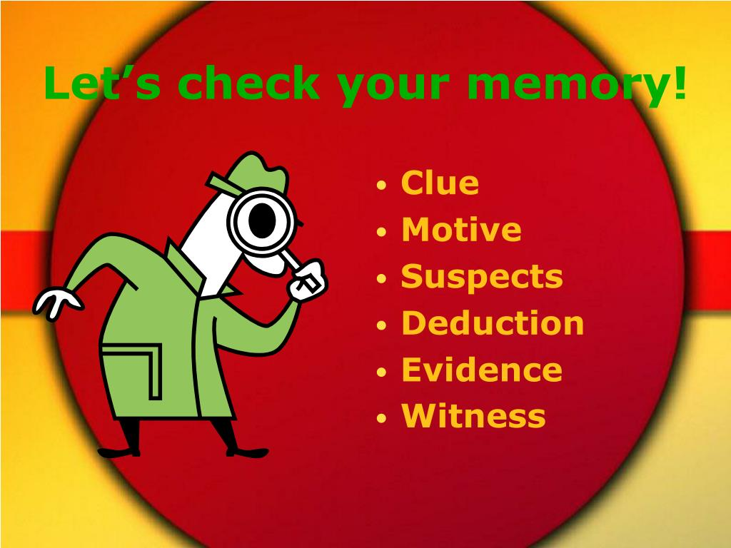 Let's check your memory!
