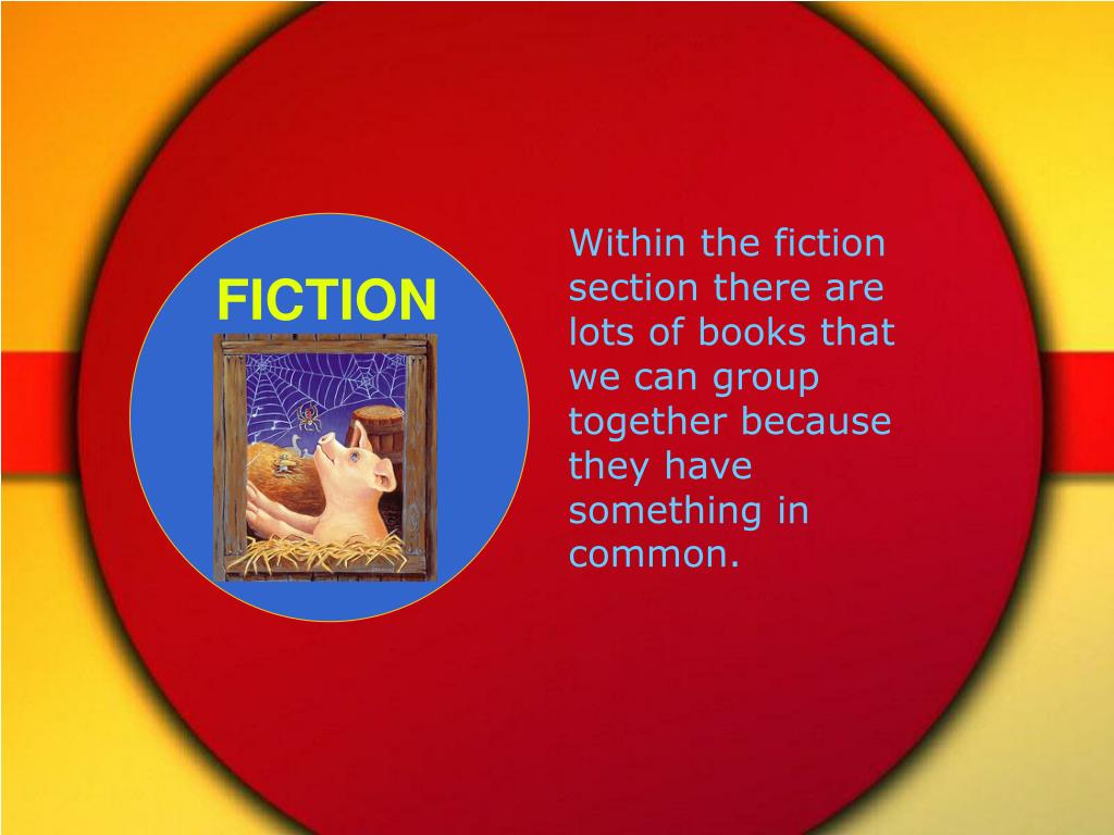 Within the fiction section there are lots of books that we can group together because they have something in common.