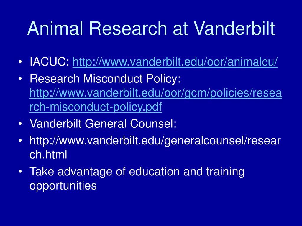 Animal Research at Vanderbilt