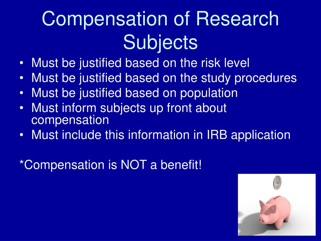 Compensation of Research Subjects