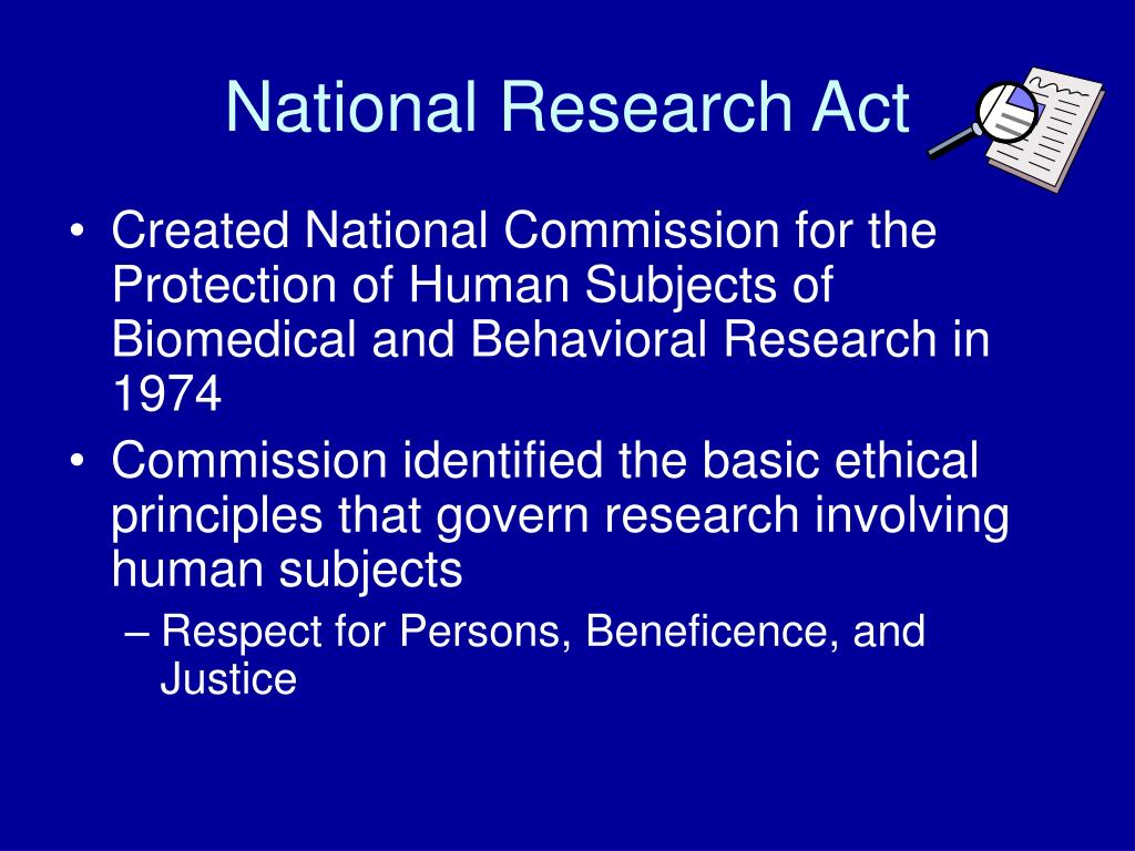 National Research Act