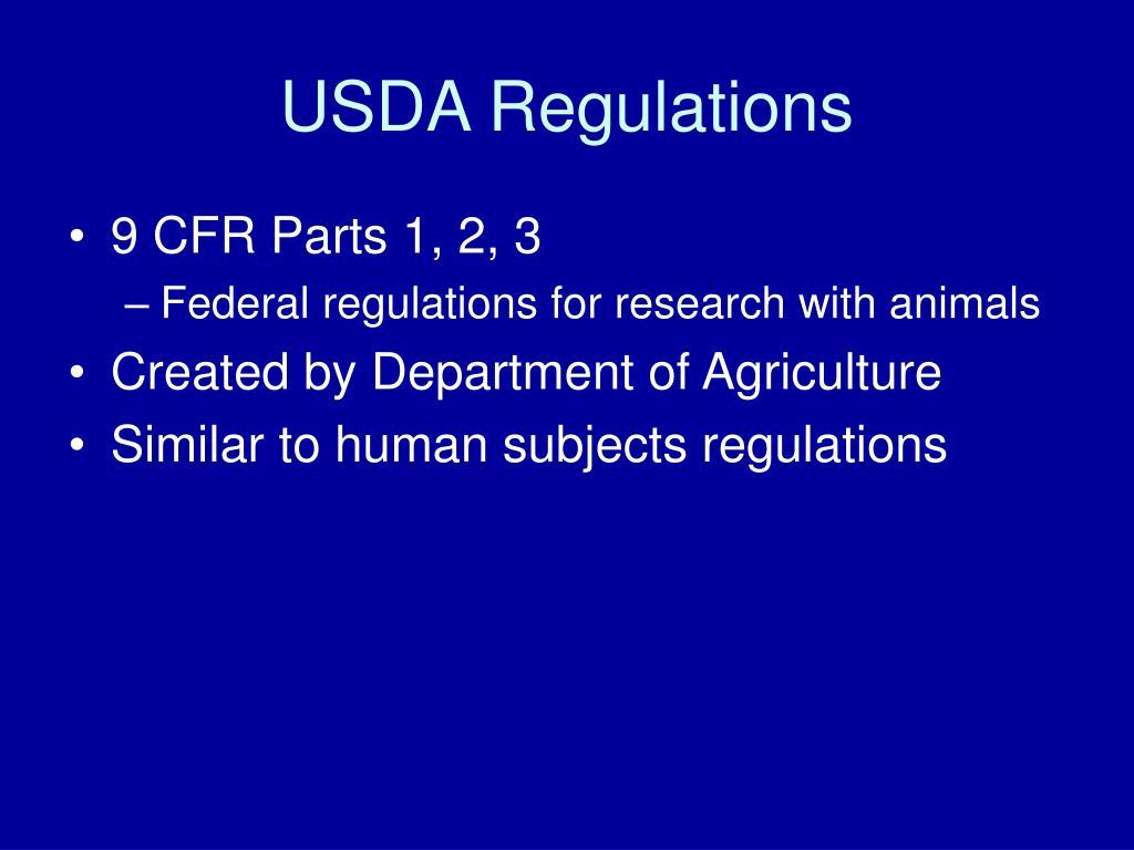USDA Regulations