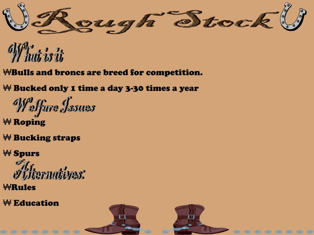 Rough Stock