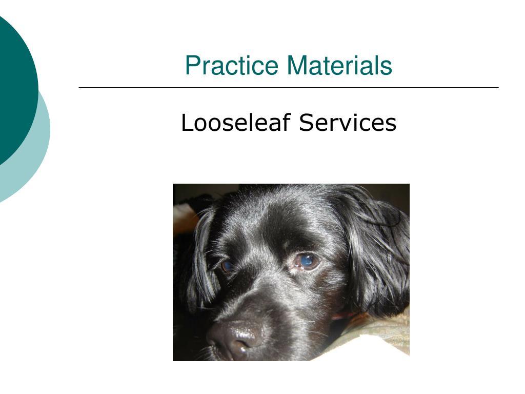 Practice Materials