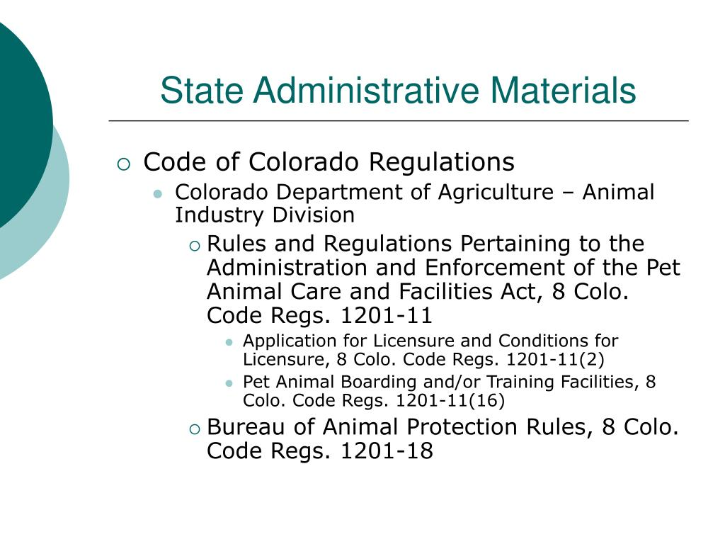 State Administrative Materials