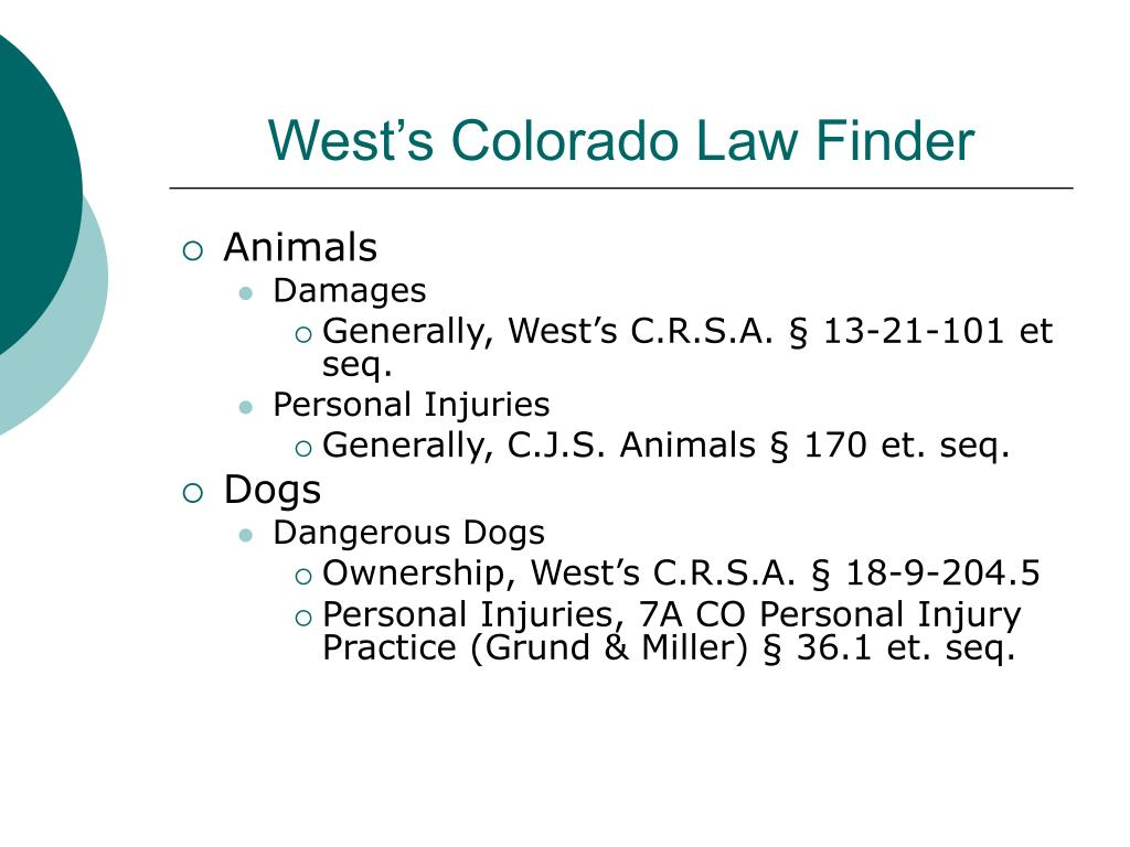 West's Colorado Law Finder