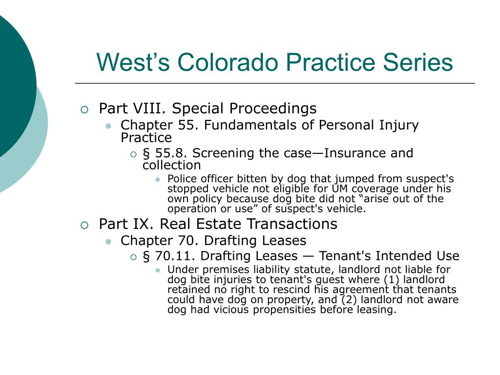 West's Colorado Practice Series