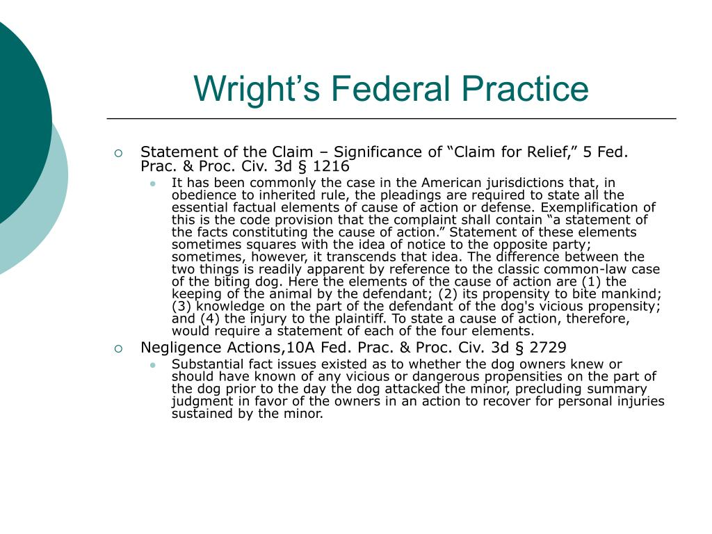 Wright's Federal Practice