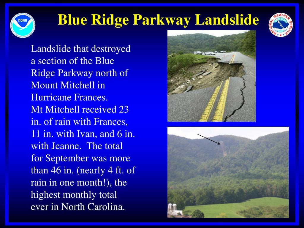 Blue Ridge Parkway Landslide