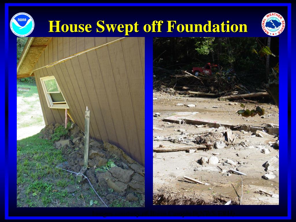 House Swept off Foundation