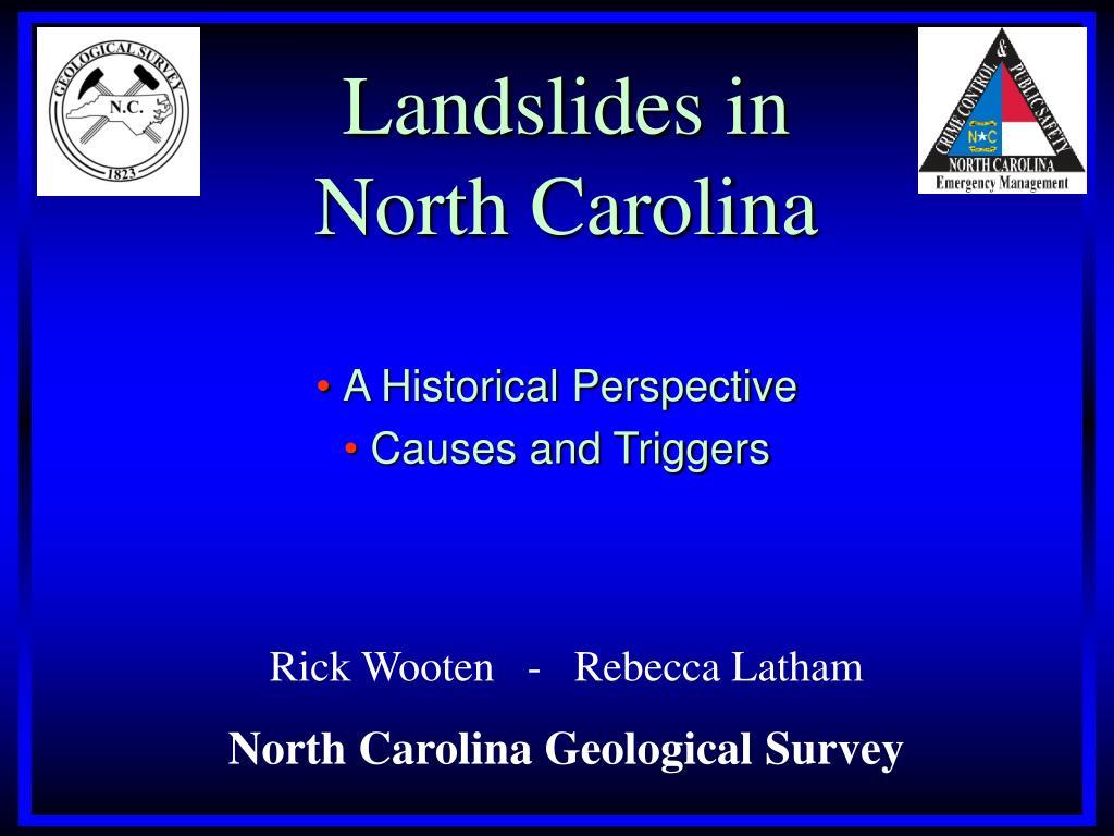 Landslides in
