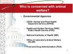 who is concerned with animal welfare