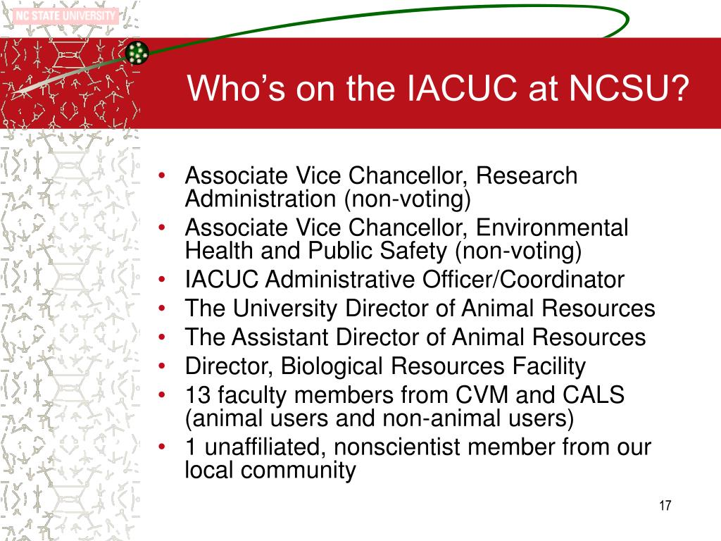 Who's on the IACUC at NCSU?