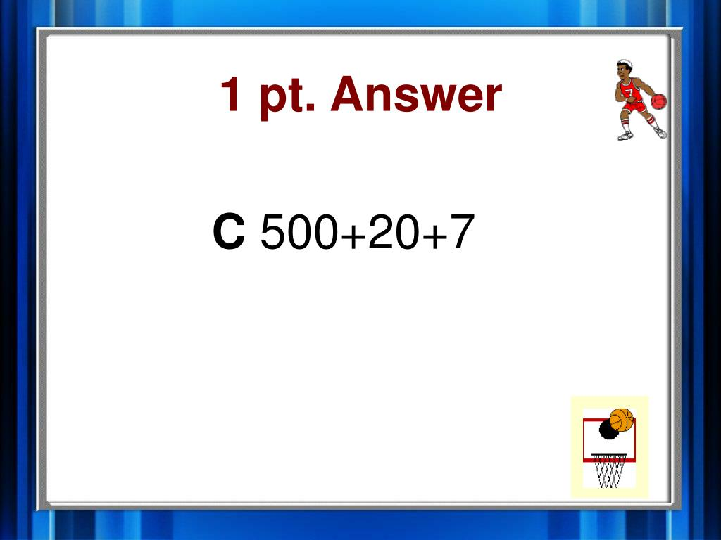 1 pt. Answer