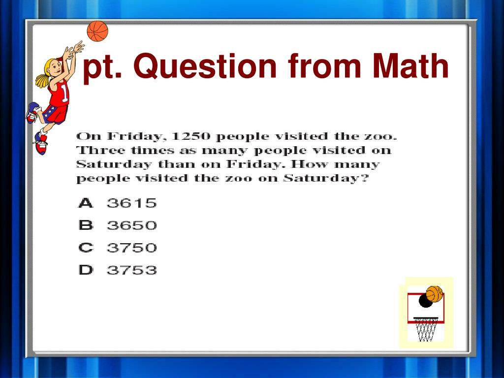 1 pt. Question from Math