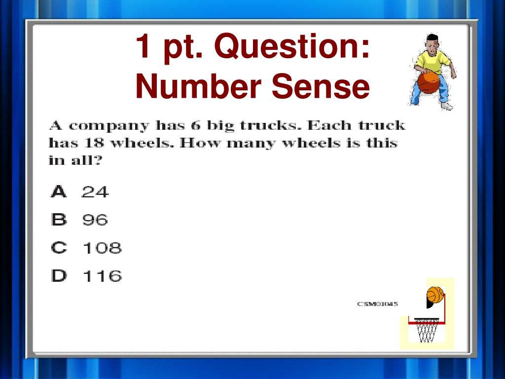 1 pt. Question: