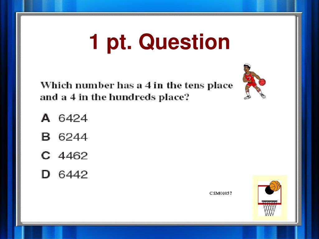 1 pt. Question