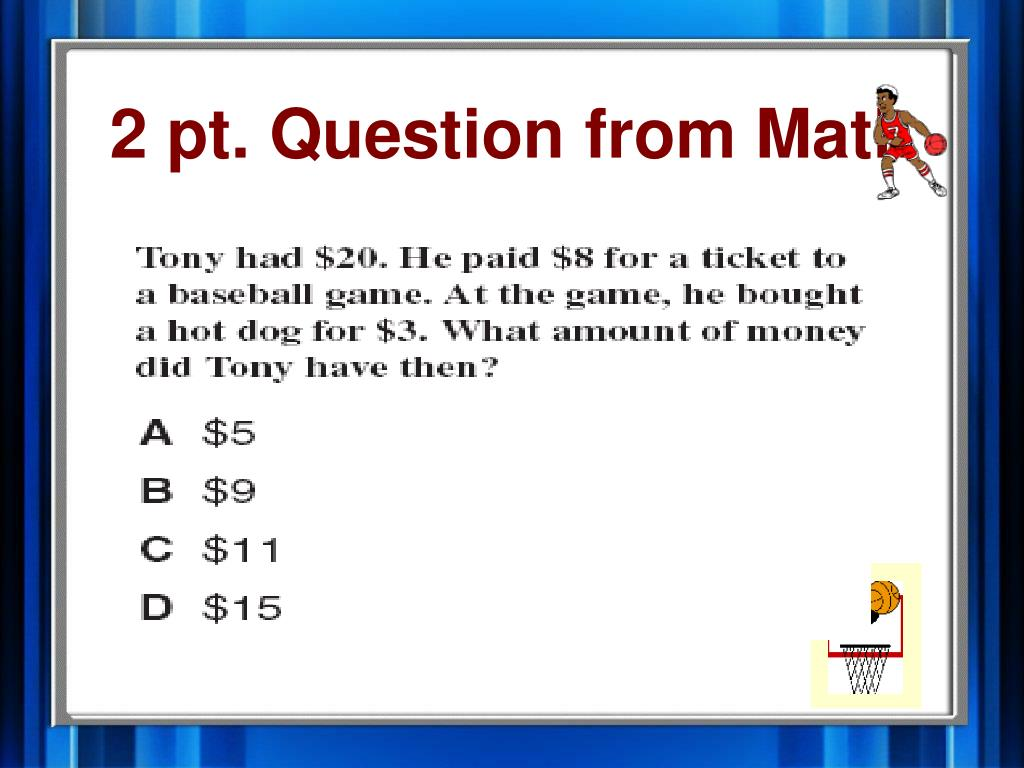 2 pt. Question from Math