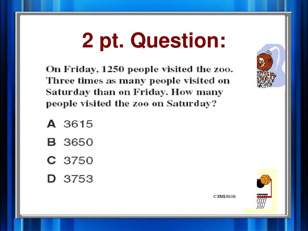 2 pt. Question: