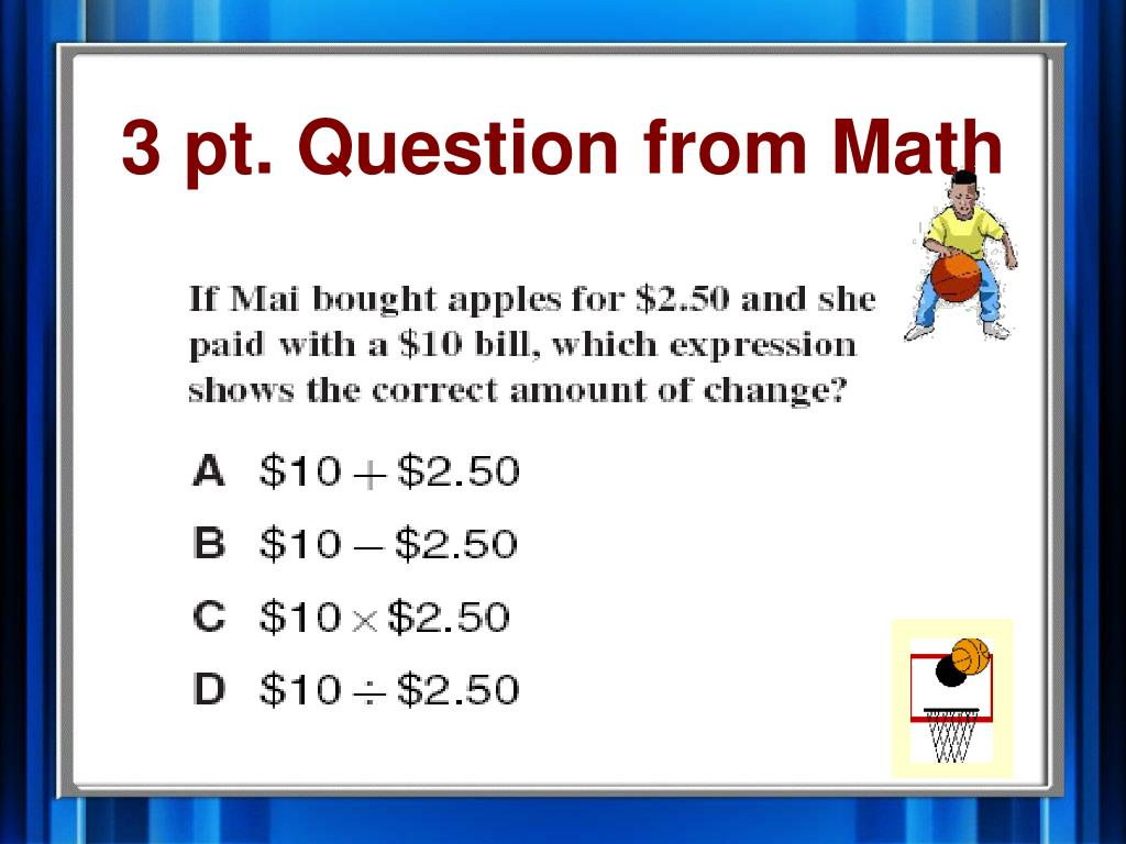 3 pt. Question from Math