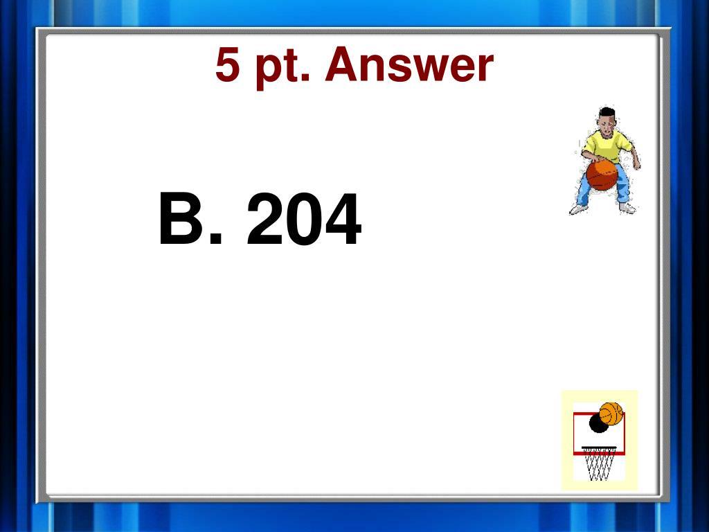 5 pt. Answer