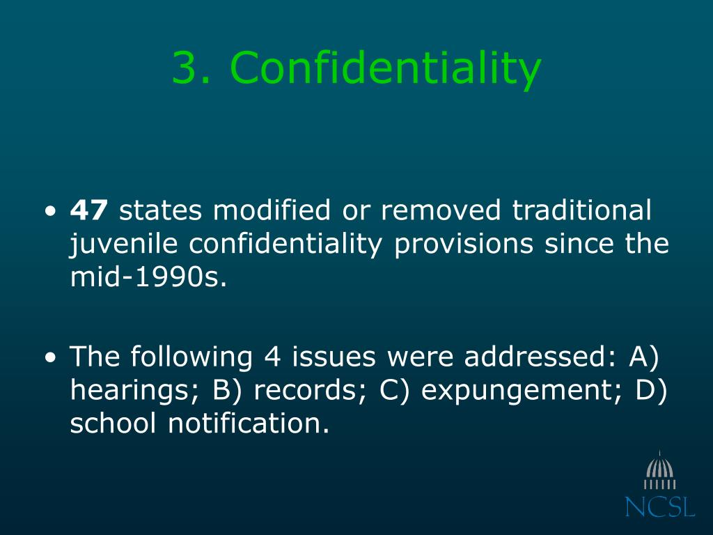 3. Confidentiality