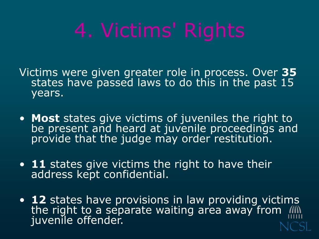 4. Victims' Rights